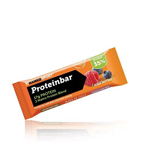 Named Proteinbar 35% Confezione Da 12 Barrette Gusto Wid Berries