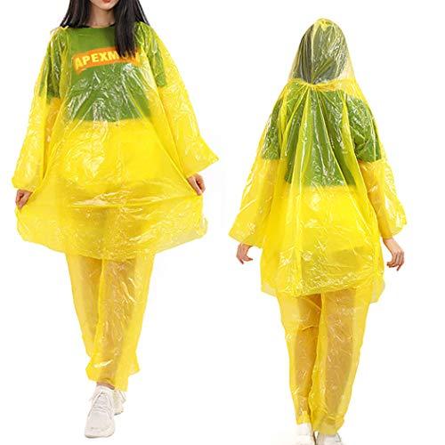 Bageek 3 Sets Regen Poncho Multipurpose Creatieve Wegwerp Regenjas voor Volwassenen