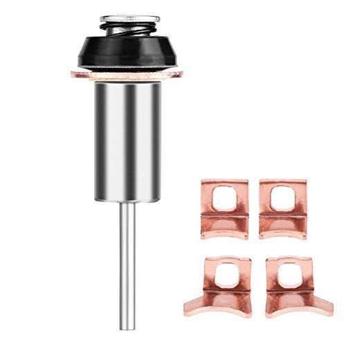 Qiilu Kit de reconstrucción de reparación de arranque Conjunto de émbolo de contacto solenoide