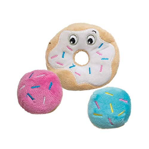 Petstages Donut Catnip & Crinkle Cat Toy Featuring Soft Plush Material, Perfect for Batting & Energetic Play