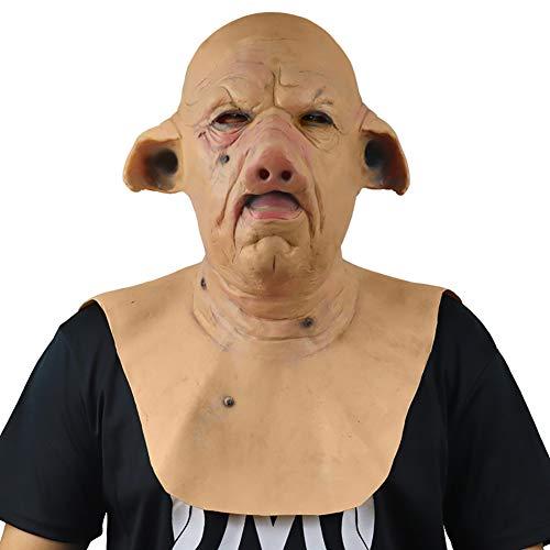 DJXLMN Schweinekopfmaske Gruselmaske, Gruselmaske Resident Evil Monster Maske, Gruselkostüme Party Gummi Latexmaske Für Halloween
