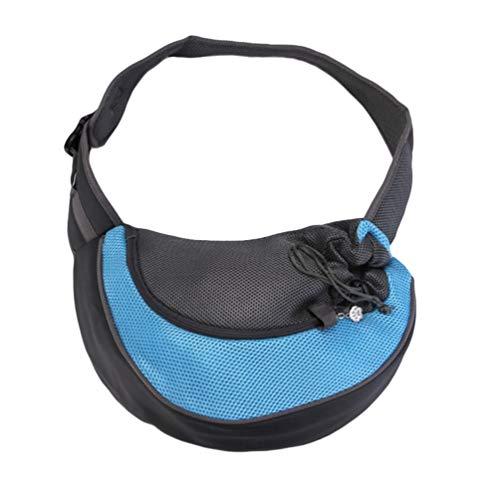 Kairunn Haustier Tragetaschen für Kleine Hunde und Katzen weich Tragetasche Sling Schulter Bag Hundetragetasche Schultertasche Blau