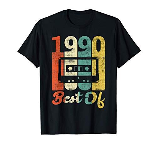 Cassette Vintage per 31 Compleanno 1990 Migliori Anni 90 Maglietta
