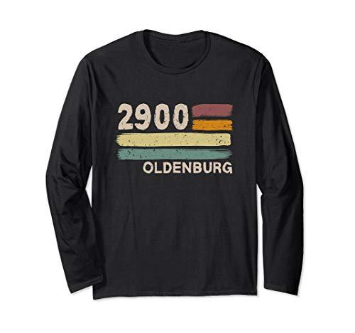 2900 Oldenburg Retro Postleitzahlen Alte PLZ Vintage Langarmshirt