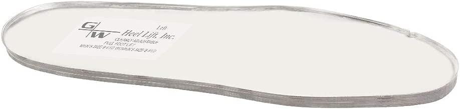 G&W Heel Lift Unisex Full Foot Lift Right Foot, Women(8-8.5)/Men(6-6.5)
