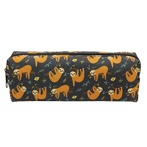 Canvas Pencil Bag Pencil Case Holder Pen Pouch for Boys Girls Kids Teens Teenagers Student Women Men (Sloth)