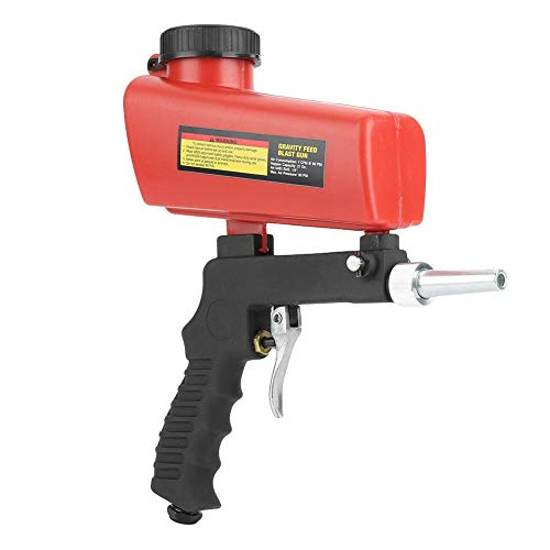 Fantastic Deal! Portable Sandblaster,Pneumatic Sandblasting Gun Sandblasting Tool with 21 lbs Hopper...