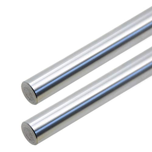 ReliaBot 2PCs 12mm x 400mm (.472 x 15.75 inches) Case Hardened Chrome Plated Linear Motion Rod Shaft Guide - Metric h8 Tolerance