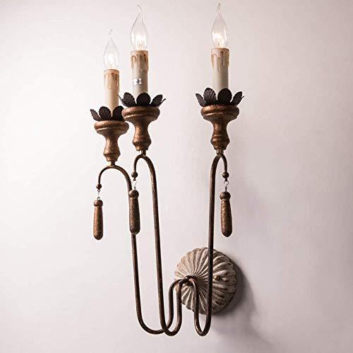 Mkjbd wandlamp, lantaarn, tuinverlichting, wandlamp, wandlamp, retro, Amerikaanse lampen, voor oud smeedijzer 3 Lumière