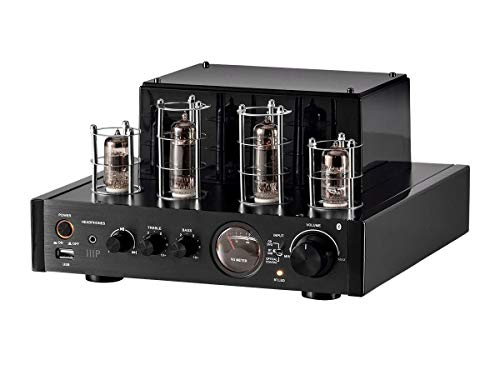 Learn More About Monoprice Stereo Hybrid Tube Amplifier 2019 Edition, 25 Watt with Bluetooth, Wired ...