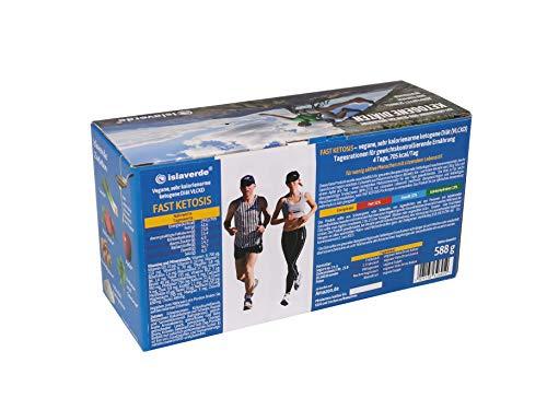 Vegane Ketogene Diät FAST KETOSIS, VLCKD: 4-Tage Packung, 705 kcal/Tag, Tagesrationen für gewichtskontrollierende Ernährung, Pulvermischungen in Beuteln, 20 Portionen, 588 g