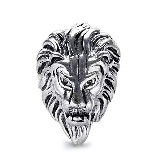 DJDLNK leeuwenkop, dier, punk ring, mannen, sieraden, zilveren vingerringen voor vrouwen, vintage, ring, mannen, vrouwen, party ringen