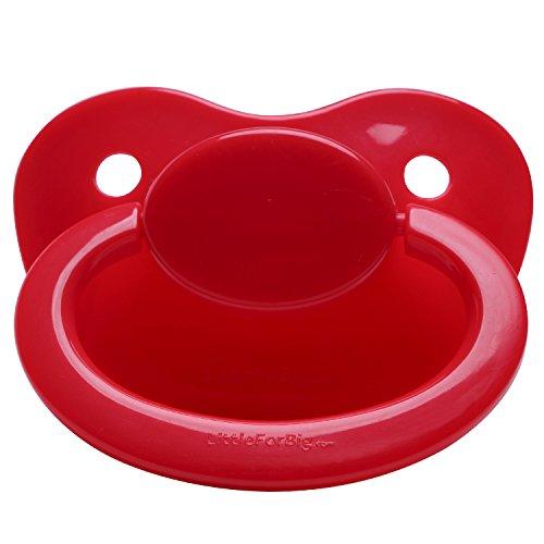LittleForBig - Chupete para bebé (para adultos), color rojo