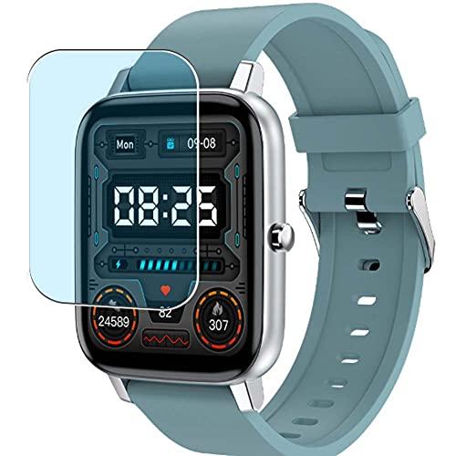Vaxson 3-Pack Anti Luce Blu TPU Pellicola Protettiva, compatibile con Adhope H80 1.69' smartwatch Smart Watch, Screen Protector Film [ Non Vetro Temperato ]