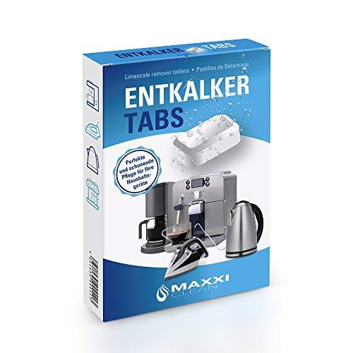 Maxxi Clean 20 Entkalker-Tabs, Kalklöser und Kalkreiniger als Allzweckreiniger zur Reinigung für Kaffeevollautomaten, Senseo, Tassimo, Vollautomaten, Wasserkocher und Waschmaschinen