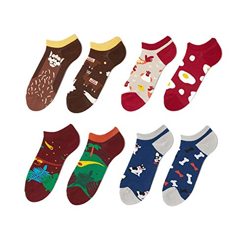Joomouney Socken Damen Herren Ungleiche Bunte Lustige Socken Geschenkbox Funny Sneaker Socken 36-42