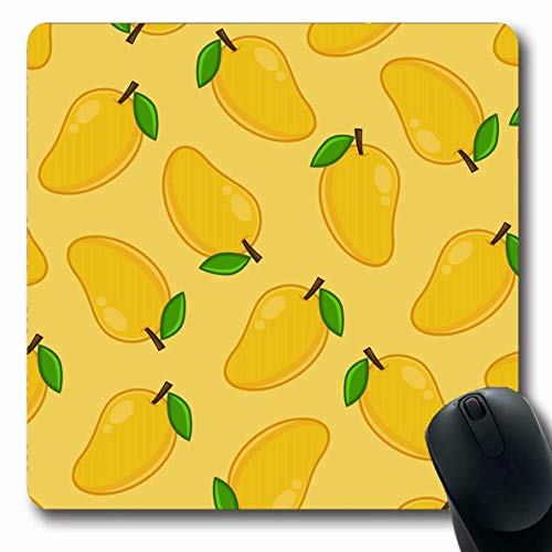 Mausepad Gartenfrucht Blumen Gelb Snack Muster Grüner Saft Süßes Saftiges Vegetarisches Blatt Abstrakte Kochschule Laptop Gummi Mousepad Oblong 25X30Cm Benutzerdefinierte Computer