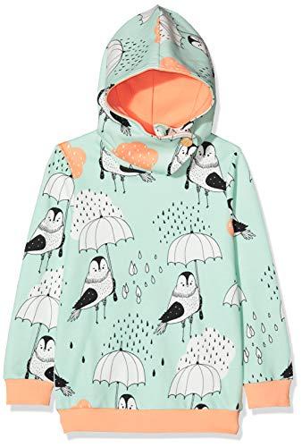 igi Mädchen Hoodie Kapuzenpullover, Mehrfarbig (Rain Birds Green BG), 104/110 (Herstellergröße:4-5y)