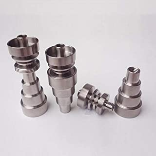 Vaselonsa Universals 6 In 1 Domeless Gr2 Titanium Nail Male Female Connection 10 14 18mm - Pipes Accessories Pipes Accessories Silver Shine Nail Polish