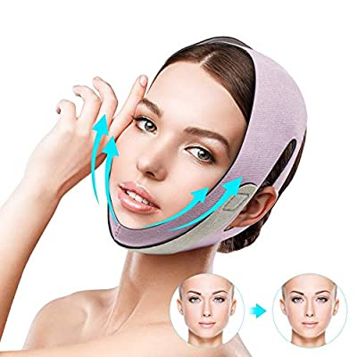Facial Slimming Belt Face Lift Mask V Line Lifting Chin Strap Anti Wrinkle Belt Face Line Belt for Women Keep Young Chin Cheek Slim Lift Up by Rosarden