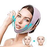 Mascarilla facial para adelgazar facial, línea V, correa para la barbilla, correa antiarrugas, cinturón de línea facial para mujeres mantener la barbilla joven mejilla delgada elevación
