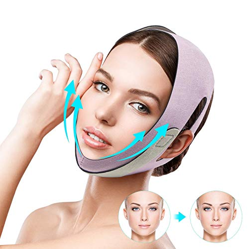 Facial Slimming Belt Face Lift Belt V Line Lifting Chin Strap Anti Wrinkle...