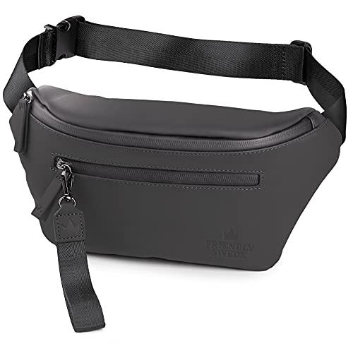 The Friendly Swede Bauchtasche Damen, Herren - Stylisch Gürteltasche Fanny Pack, Hüfttasche, Waist Bag VRETA Bum Bag