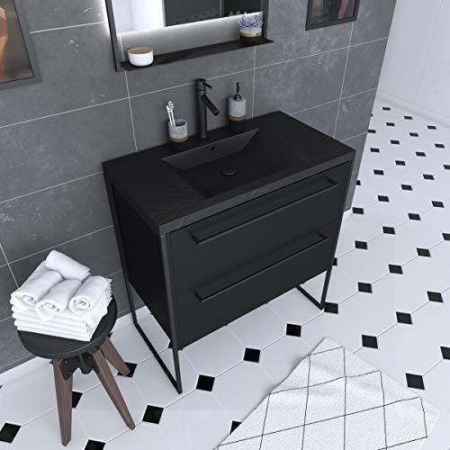Aurlane PACM060 - Mueble de baño, color negro