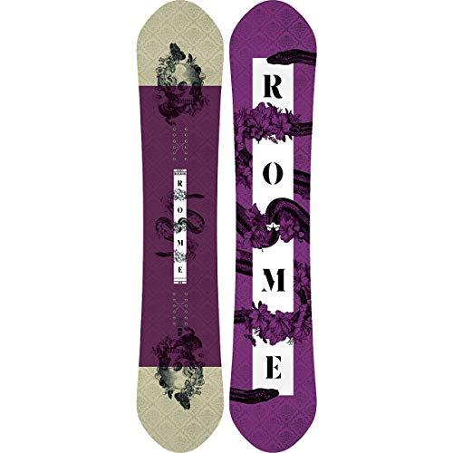 Rome Snowboards Women's Lo-fi Rocker Snowboard, Pastel Purple, 143