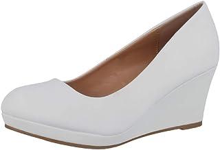 Elara Chaussures à Talon Compensé Femme avec Plateforme Chunkyrayan