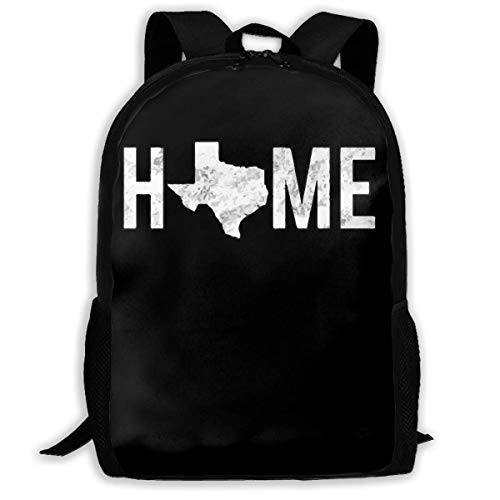 ADGBag Texas is Home Fashion Outdoor Shoulders Bag Durable Travel Camping for Kids Backpacks Shoulder Bag Book Scholl Travel Backpack Sac à Dos pour Enfants
