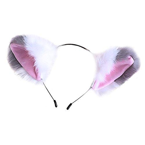dressfan Diadema de Oreja de Gato Diadema para el Cabello Mujeres Niñas Cintas para el Cabello Lindo Accesorios para el Cabello para la Fiesta de Disfraces Disfraces Partes