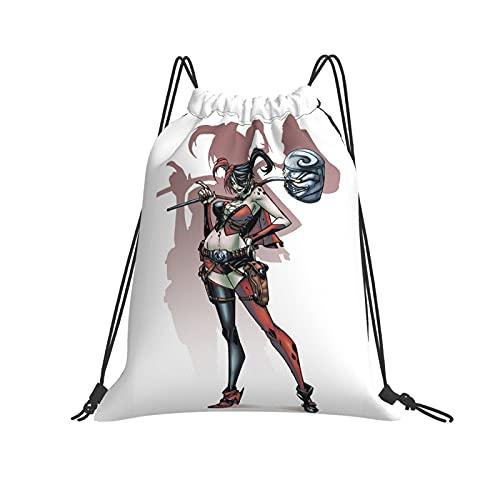 ZVEZVI Harley Quinn Hammer Mochila grande con cordón adecuada para deportes, fitness, viajes y escalada de montaña