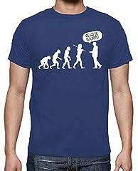 Latostadora Camiseta de la Evolución Azul Royal para Hombre