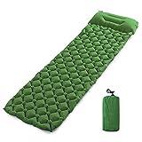 SRXSMGS Esterillas Pad de Dormir Inflable portátil Ultraligero al Aire Libre a Prueba de Humedad con Almohada Senderismo Camping Mat (Color : Green)