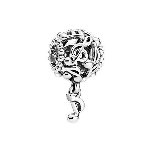 Charm in argento sterling con note musicali