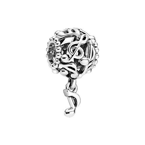 Pandora 798779C00 - Ciondolo con note aperte, 2 cm, colore: Argento