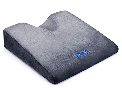 Car Seat Cushion - Premium Firm Therapeutic Grade Automobile Wedge Pad to Elevate Height and...