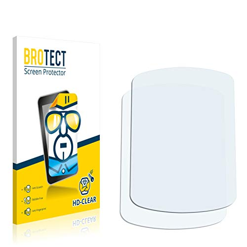BROTECT Protector Pantalla Compatible con Garmin eTrex Venture HC Protector Transparente (2 Unidades) Anti-Huellas