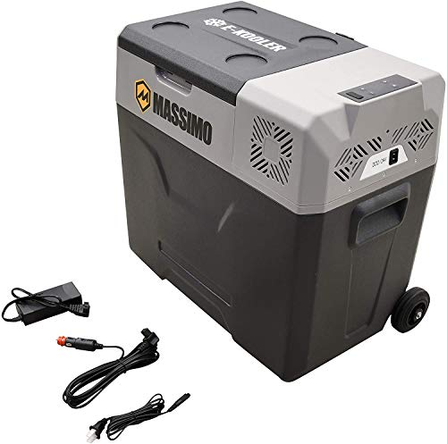 MASSIMO 50L Electric Fridge Cooler 12v DC AC Portable Freezer Boat Picnic Camping