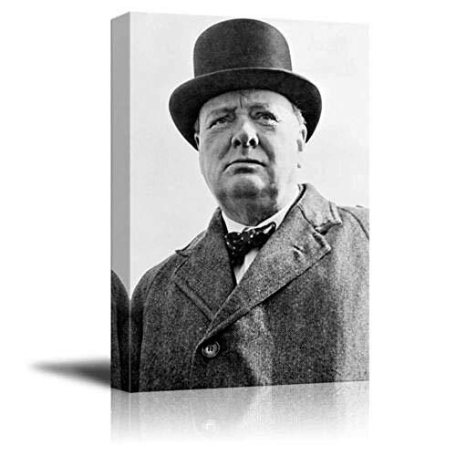 Wandkunst dekorieren Porträt Winston Churchill Druck bereit Drucken Gemälde Leinwanddruck ohne Rahmen Leinwand Kunst Poster Wandbilder für Wohnkultur Modernes Wanddekor Leinwanddrucke Art De