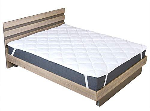 sei Design Matratzenschoner | Unterbett | Topper | Matratzen-Auflage |auch für Boxspring und Wasserbetten geeignet (Befestigung - 4-Gummis, 200 x 200 cm)