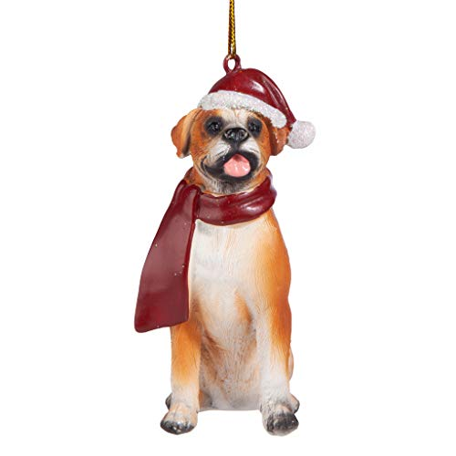 Design Toscano Christmas Ornaments - Xmas Boxer Holiday Dog Ornaments