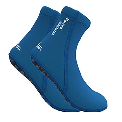 MDYYD Diving Socks Adult 3MM Thick Beach Snorkeling Socks Children's Swimming Equipment Quick-Drying Non-Slip Diving Socks Non-Slip Flexible Diving Socks (Color : Blue, Size : L)