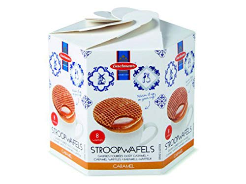 Daelmans Caramel Stroopwafels (galletas rellenas de caramelo) 8 por paquete 230 gr