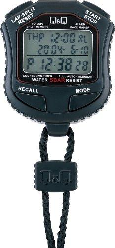 Q&Q ストップウォッチ スプリット ラップ計測 カウントダウンタイマー 付き HS45-001