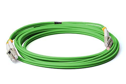 CONBIC® LWL Glasfaser-Kabel – 10m OM5 LC auf LC Stecker, Duplex 50/125 Patchkabel – Lichtwellenleiter 10 Meter