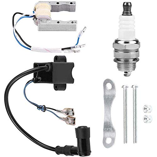 NMHSC Bobina de encendido de motocicleta, sistema de bobina de magneto de bobina de encendido CDI para bujía de bicicleta motorizada 49cc 66cc 80cc
