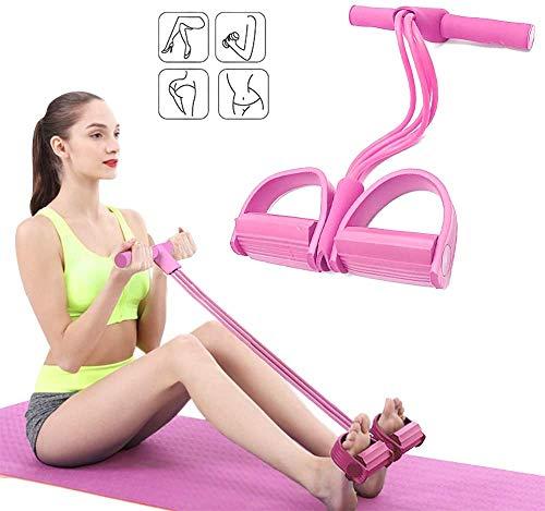 BTkviseQat Multi-Function Tension Rope,Bodybuilding Expander Elastischen Widerstand Band Yoga SportgeräTe Taille Arm Beintrainer Gym GeräT FüR Fitness Abnehmen