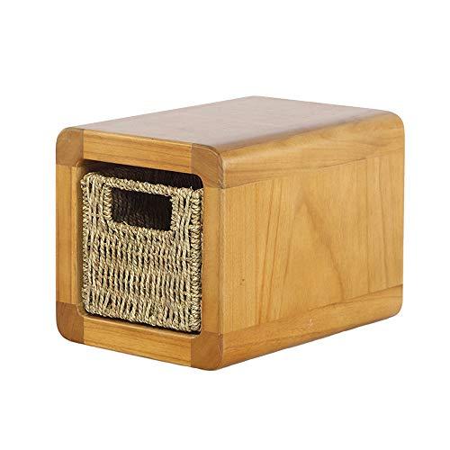 Taburete nido de madera maciza/mesa auxiliar cuadrada, mesa auxiliar y sillas para niños y adultos